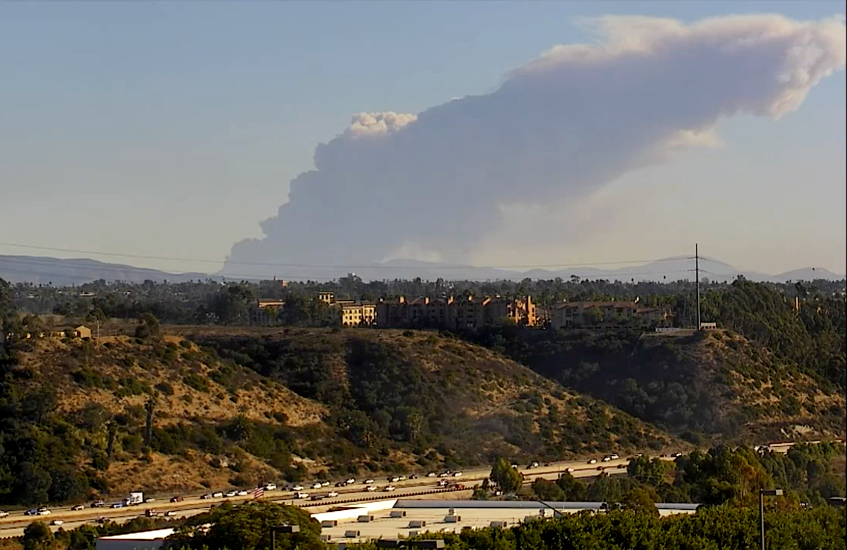 Smoke From Tijuana Fire Seen in San Diego
