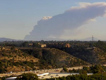 Smoke From Tijuana Fire Seen in San Diego