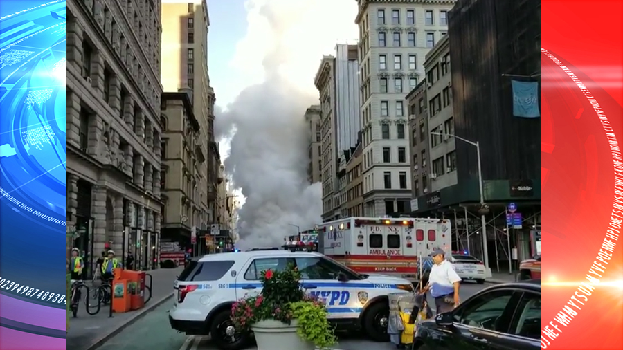 Large steam pipe explodes in lower Manhattan (VIDEO)