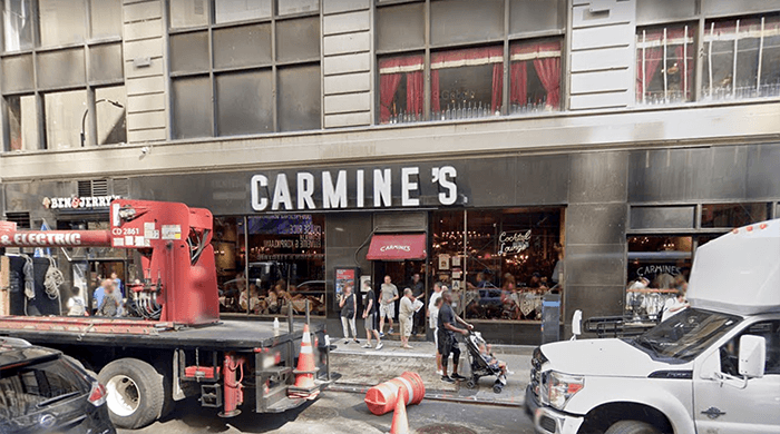Carmine's is selling its signature marinara sauce for the first time to help over 450 employees who are out of work due to coronavirus