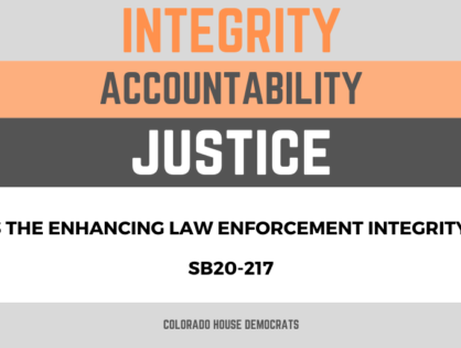 The Colorado House passed a police reform and accountability SB20-217 bill that will protect protesters